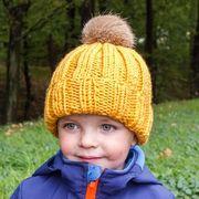 Náhled výrobku: Dětská pletená čepice řádkovaná