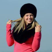 Náhled výrobku: Kožešinová čepice polární liška - pesec, černá barvená - kulatá