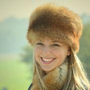 Náhled výrobku: Kožešinová čepice a šála z červené lišky
