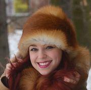Náhled výrobku: Kožešinová čepice červená liška - kulatá