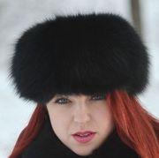 Náhled výrobku: Čepice polární liška - pesec, barvená černá - lodička