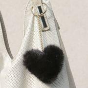 Náhled výrobku: Kožešinový přívěsek srdce - norek