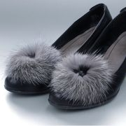 Náhled výrobku: Kožešinové klipsy na boty - brož