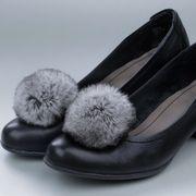 Náhled výrobku: Kožešinové bambule na boty - králík rex