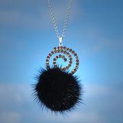 Náhled výrobku: Kožešinový náhrdelník, norek - spirála