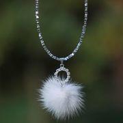 Náhled výrobku: kožešinový náhrdelník, norek - kolečko