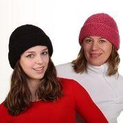 Náhled výrobku: Pletená čepice klasik s ohrnutím