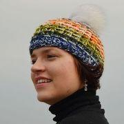 Náhled výrobku: Pletená čepice duhová