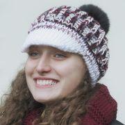 Náhled výrobku: Pletená čepice s kšiltem