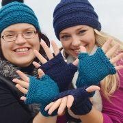 Náhled výrobku: Pletené bezprstové rukavice