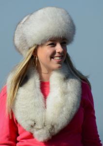 Náhled výrobku: Kožešinová čepice a límec polární liška - pesec