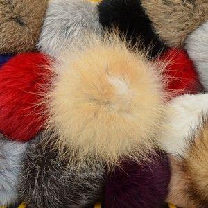 Náhled výrobku: Kožešinová bambule na čepici střední - králík