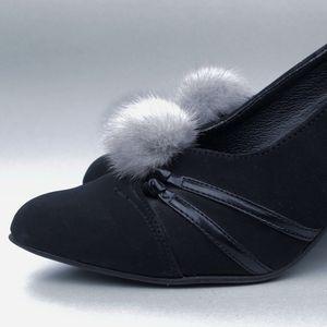 Náhled výrobku: Kožešinové klipsy na boty - norek