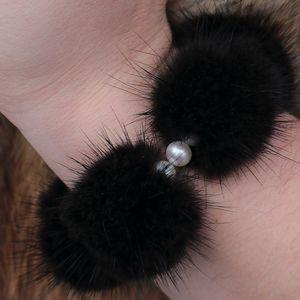 Náhled výrobku: Kožešinový náramek - norek a pravé perly