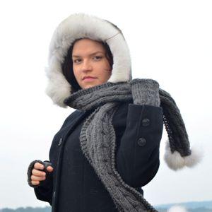 Náhled výrobku: Kožešinový lem polární liška - pesec do 60cm